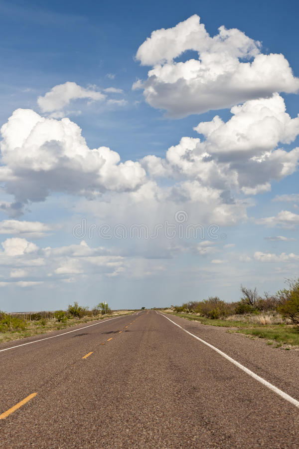 Cloudscape Over Highway Stock Image