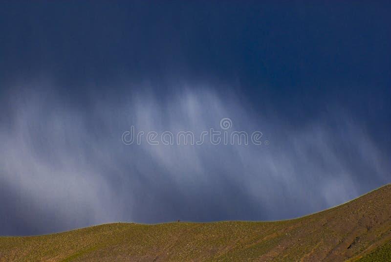 Cloudscape Over Hillside Stock Photo