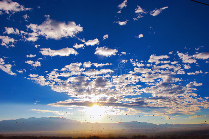 Cloudscape over the Horizon. A beautiful cloudscape image above the horizon line royalty free stock image
