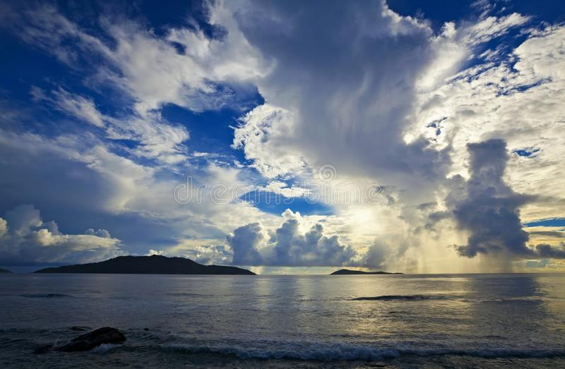 Cloudscape and seascape  view