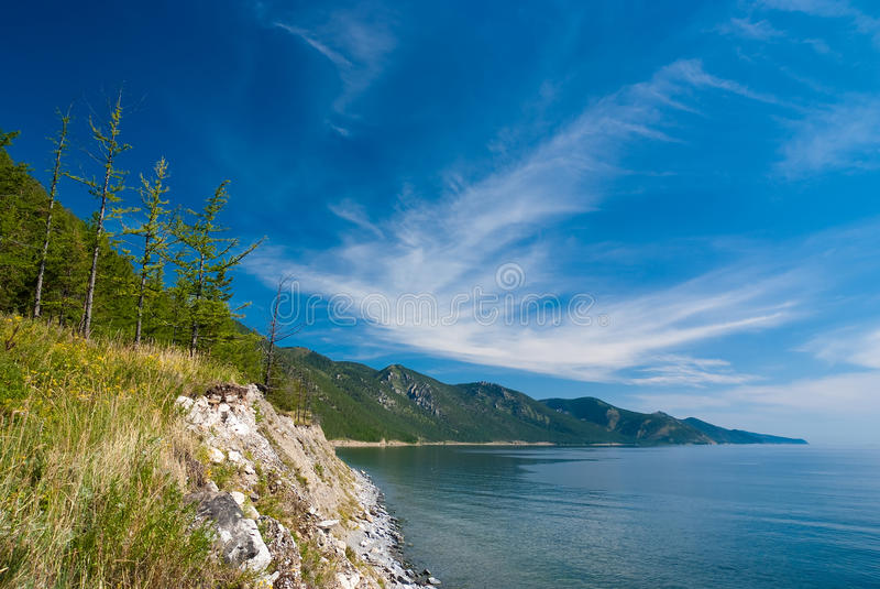 Cloudscape sopra Baikal fotografia stock libera da diritti