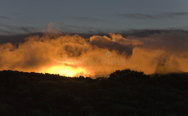 cloudscape teide 库存照片