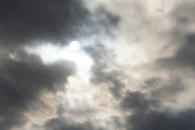 Cloudscapes belamente escuro fotografia de stock