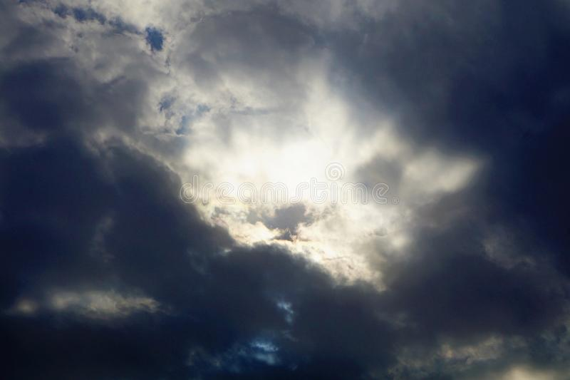 Cloudscapes belamente escuro imagens de stock royalty free