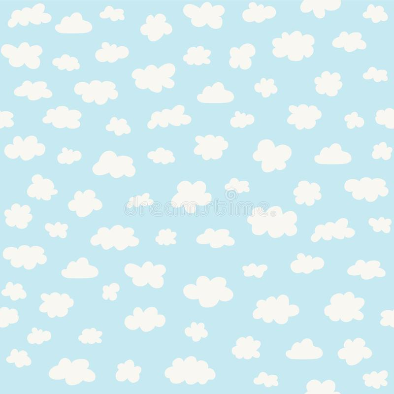 White clouds on blue sky background. And vector illustration vector illustration