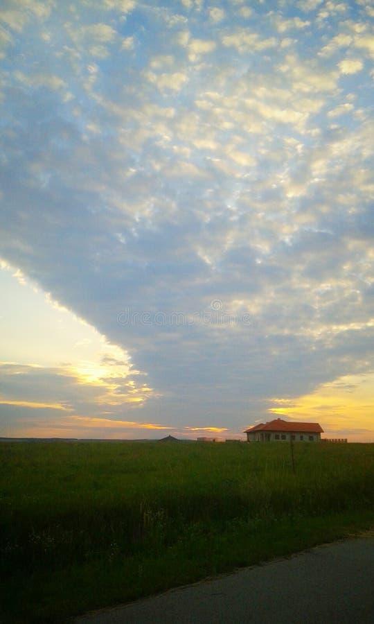 Cloudway in der Sonne stockfoto