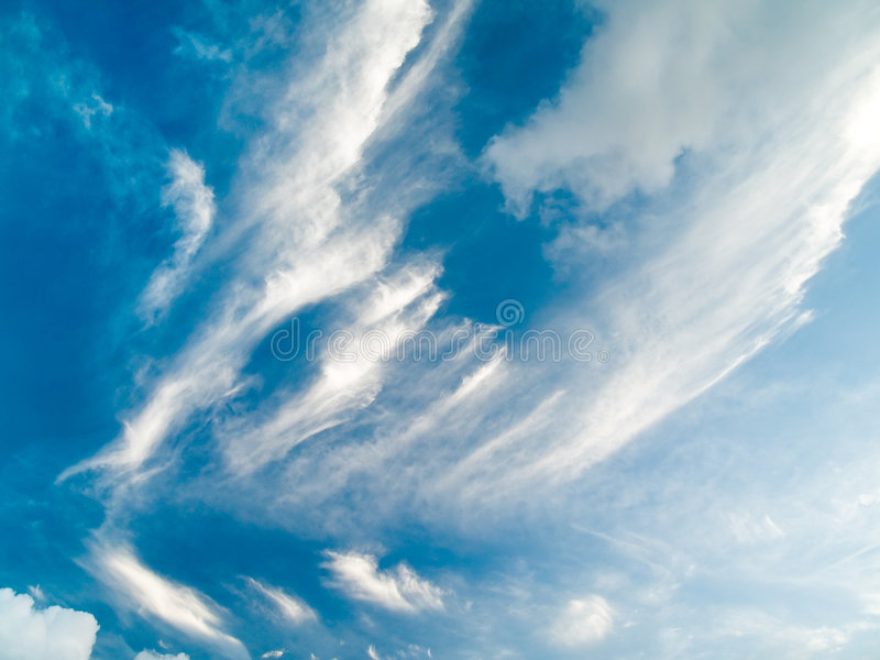 Cloudy Abstract stock image