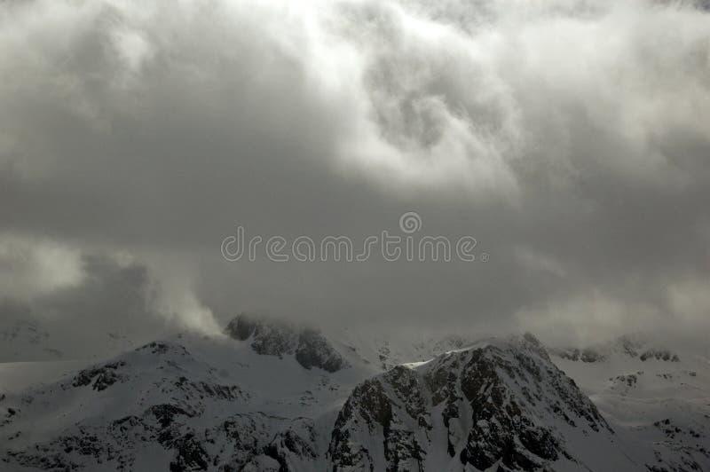 Cloudy Alps stock photos