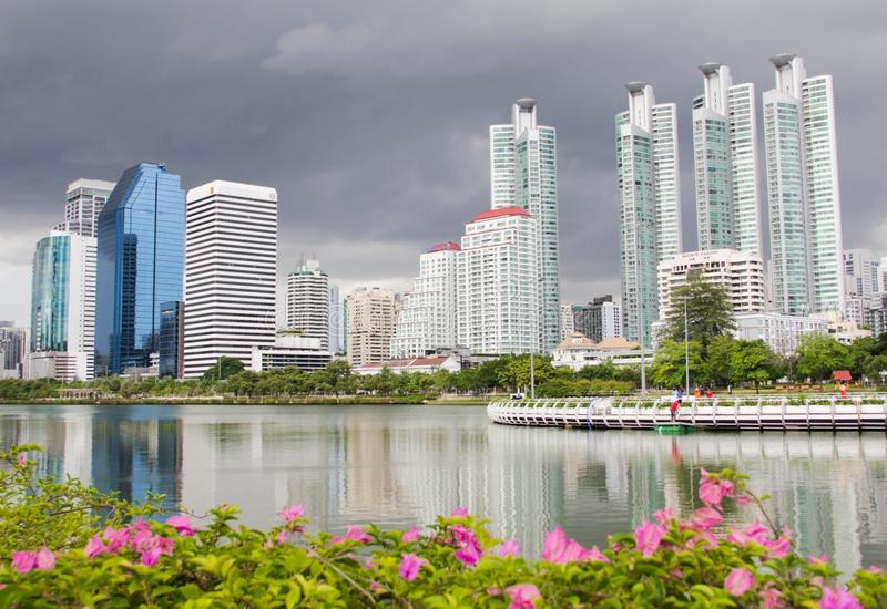 Cloudy in bangkok royalty free stock images