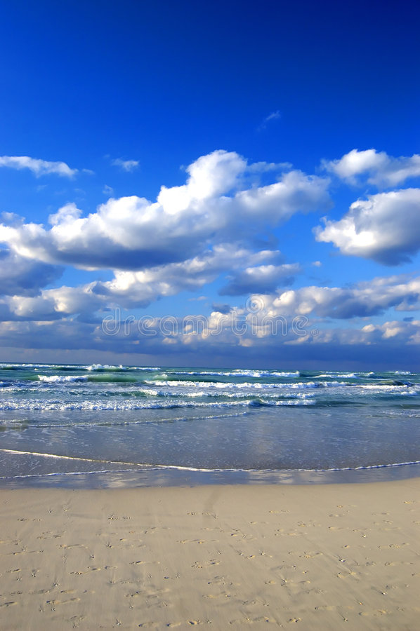 Cloudy beach at Cuba royalty free stock image