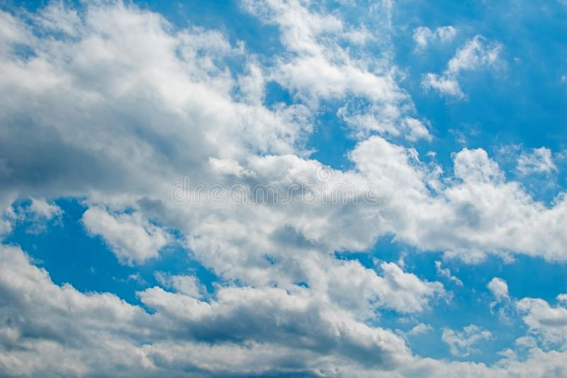 Cloudy Blue Skies Overhead. Cloudy with Blue Skies Overhead stock photo