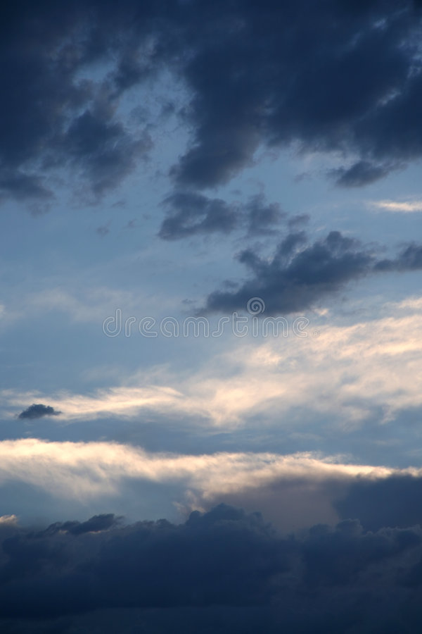 Cloudy blue sky 3 stock image