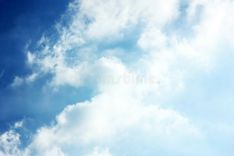 Cloudy blue sky background wallpaper royalty free stock photos