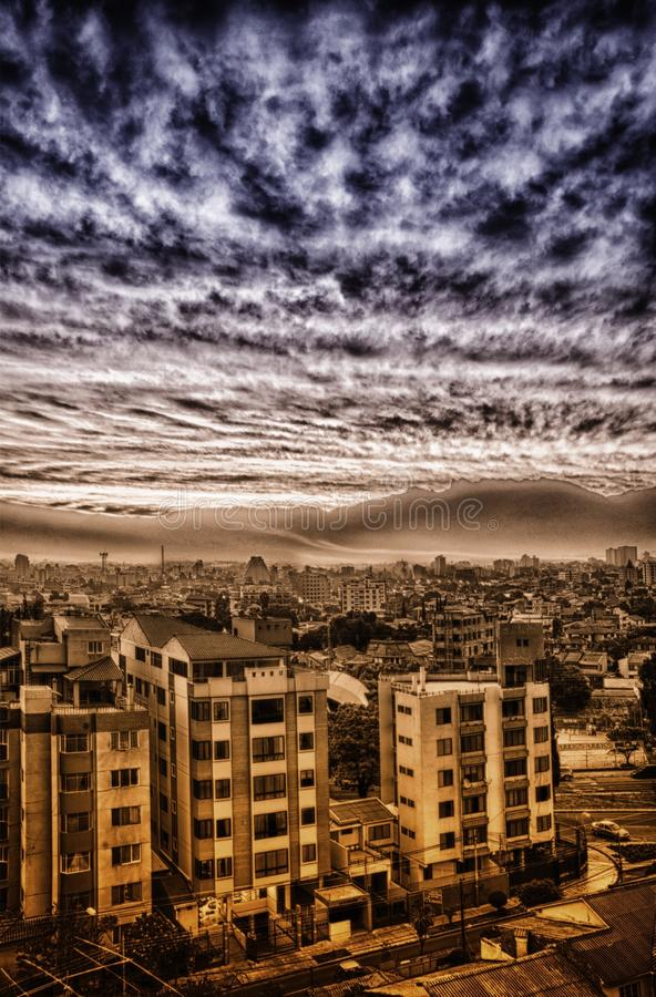 Cloudy City stock photography