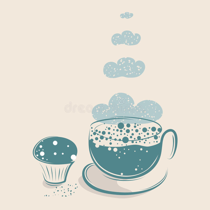 Cloudy Coffee with Muffin