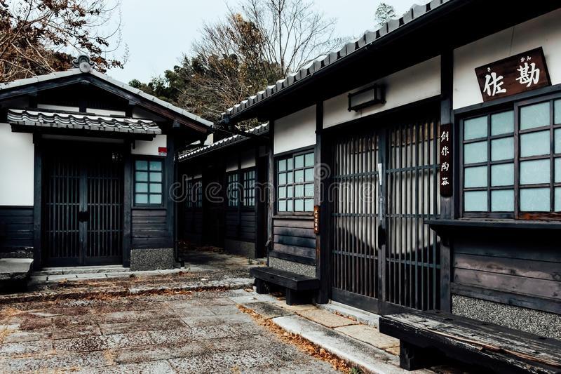 Ancient town of Arashiayama, Kyoto Japan royalty free stock photography