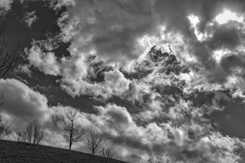 Cloudy day stock photography