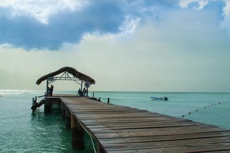 Cloudy day in Tobago stock image