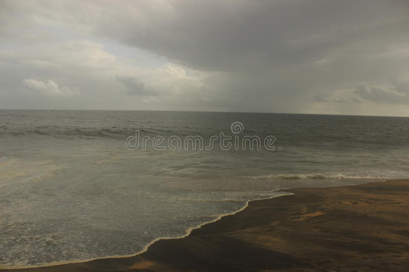 Cloudy evening at sea royalty free stock image