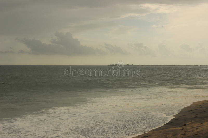 Cloudy evening at sea royalty free stock photography