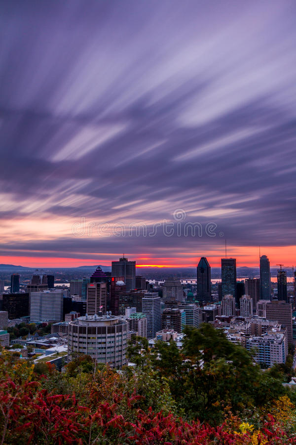 Cloudy fall sunrise royalty free stock image