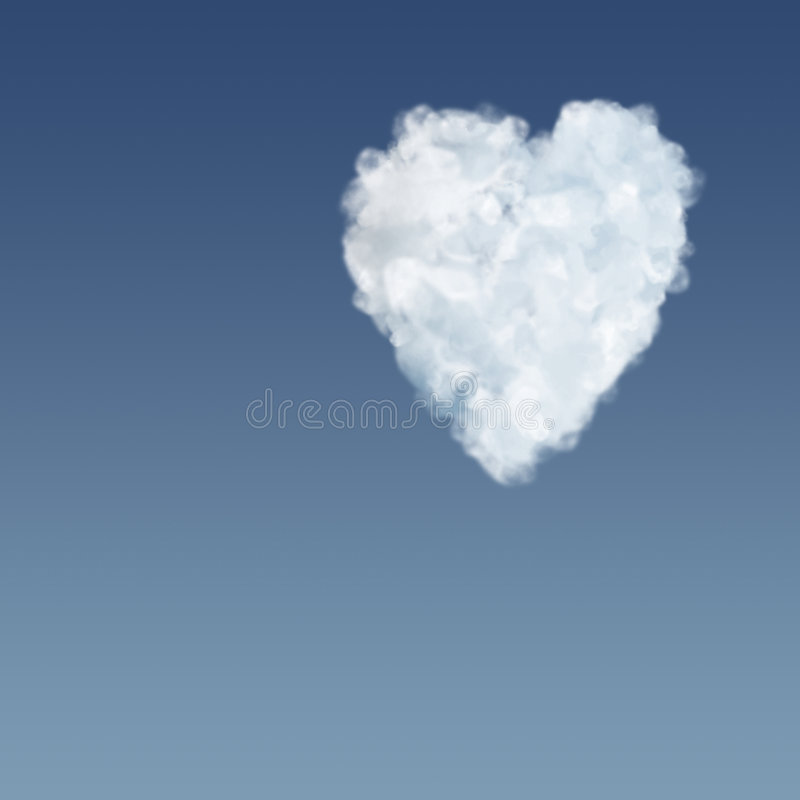 Cloudy heart. Clouds...love...heart....emotions...clouds in the sky in heart shape vector illustration