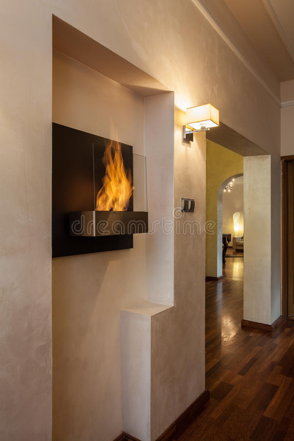 Download Cloudy home - fireplace stock photo. Image of appliance - 28664894