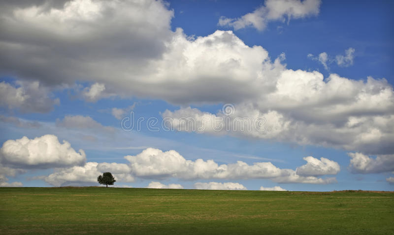 Cloudy horizont stock photography