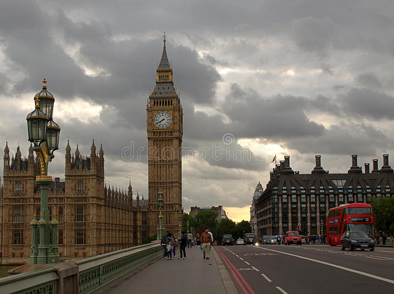 Cloudy London. stock images