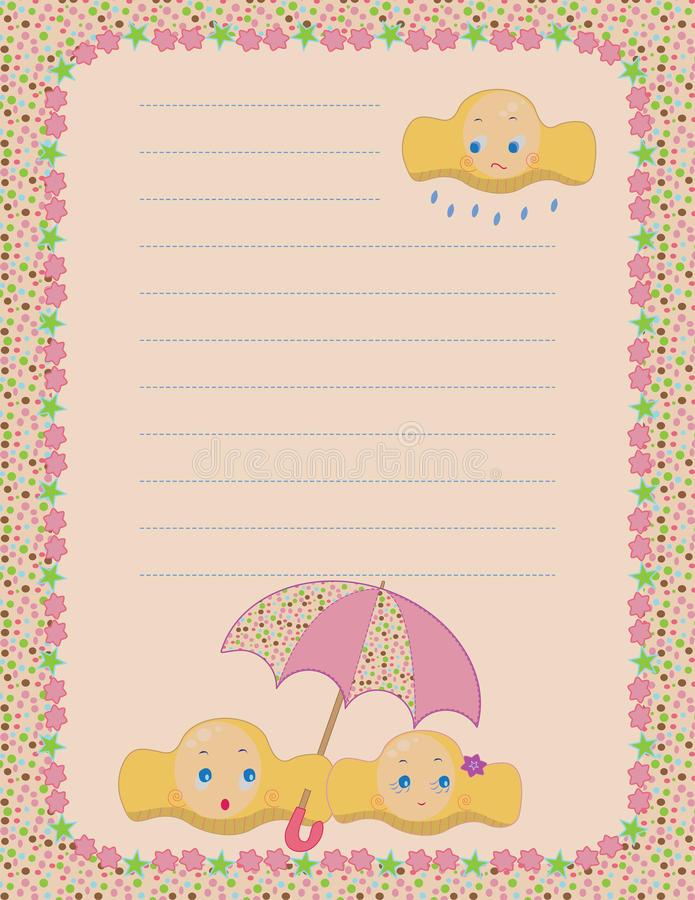 Download Cloudy mood notepad stock vector. Image of communication - 13593990