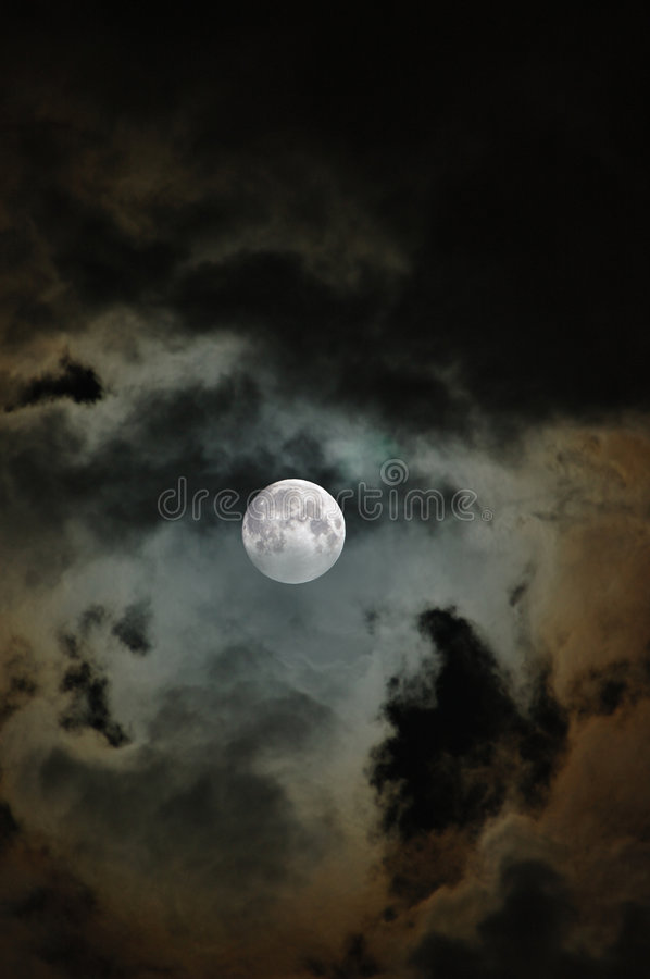 Download Cloudy Moon stock image. Image of scary, night, dark, stormy - 649539