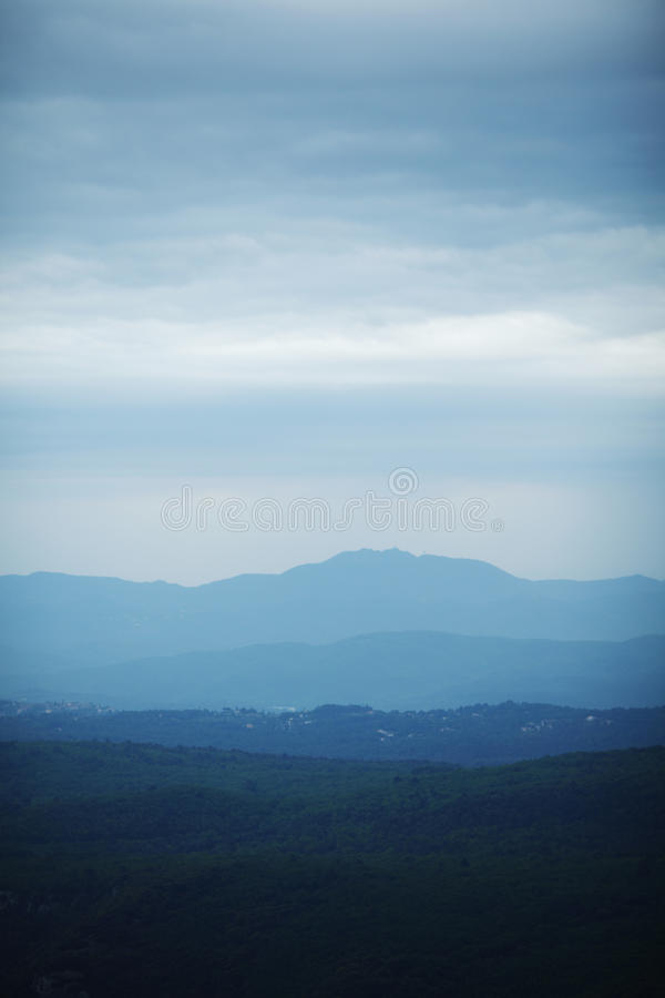Download Cloudy mountains landscape stock image. Image of glory - 28108279