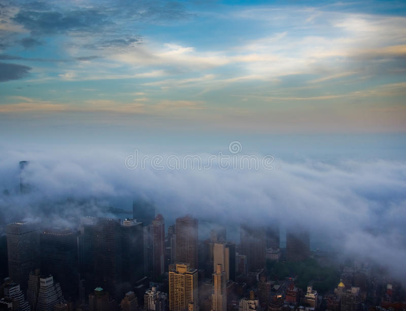 Cloudy New York Royalty Free Stock Photo