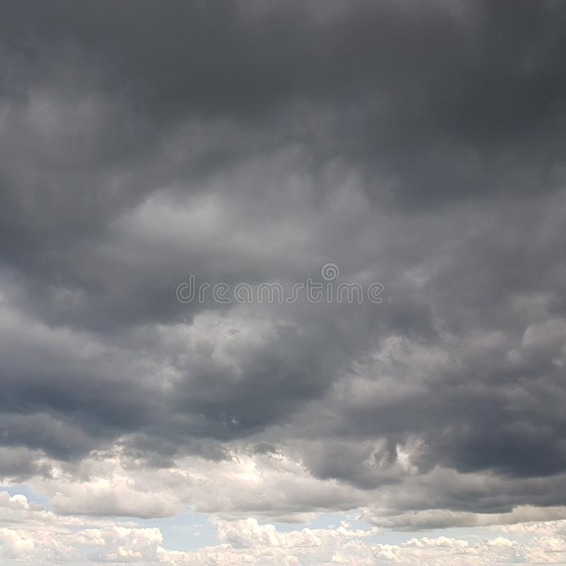 A Cloudy North Norfolk Sky royalty free stock photo