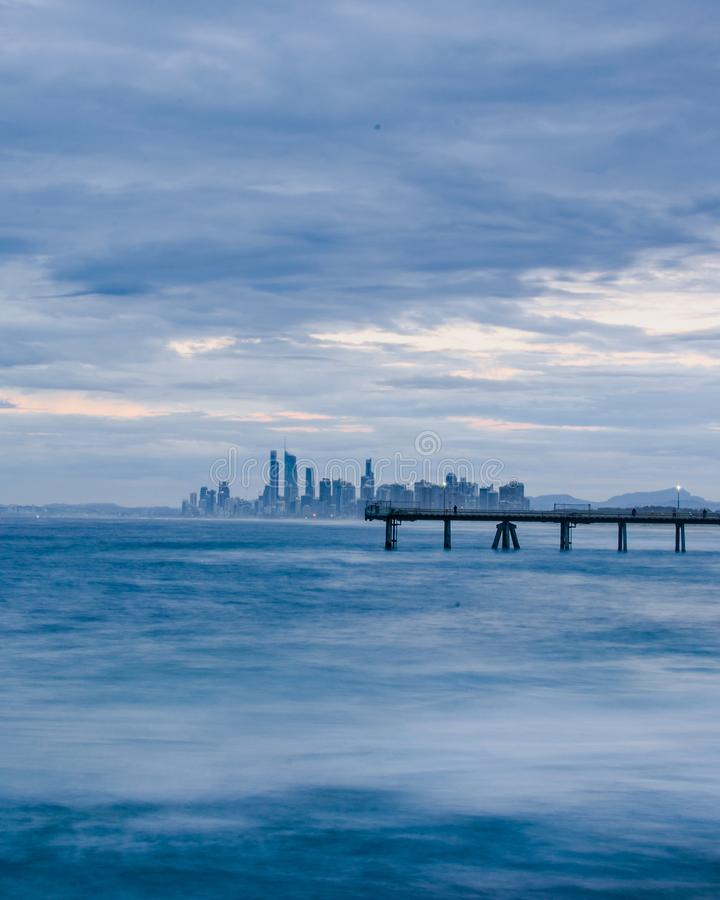 Cloudy ocean view royalty free stock photos