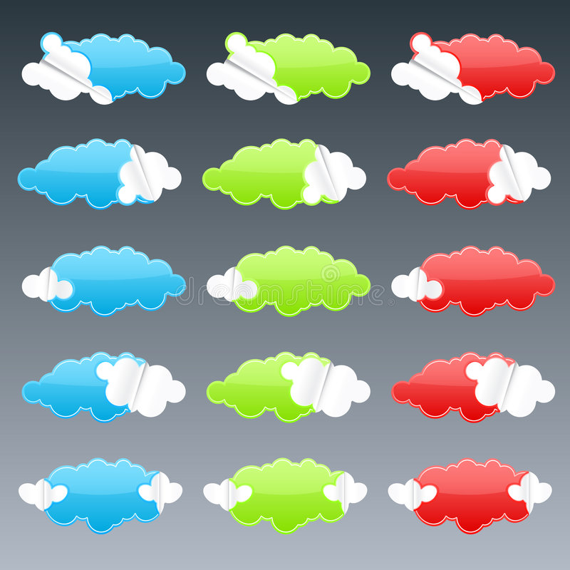 Free Cloudy Peeling Stickers Royalty Free Stock Photo - 6155475