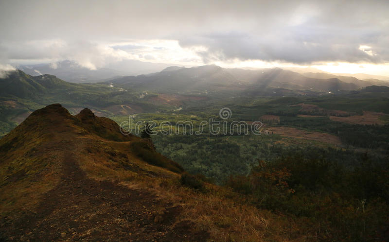 Cloudy Saddle Mountain royalty free stock images