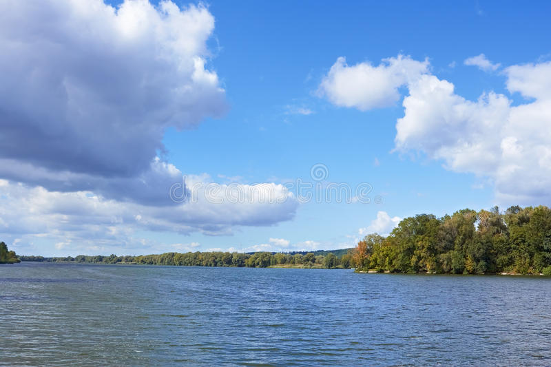 Download Cloudy Scenery Over The River Stock Image - Image of horizontal, beauty: 26661265