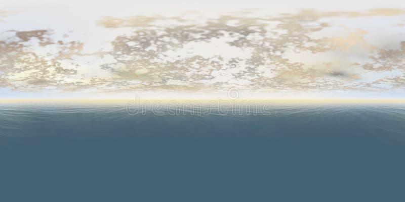 Seamless 360 Sky And Sea Panorama royalty free stock photo