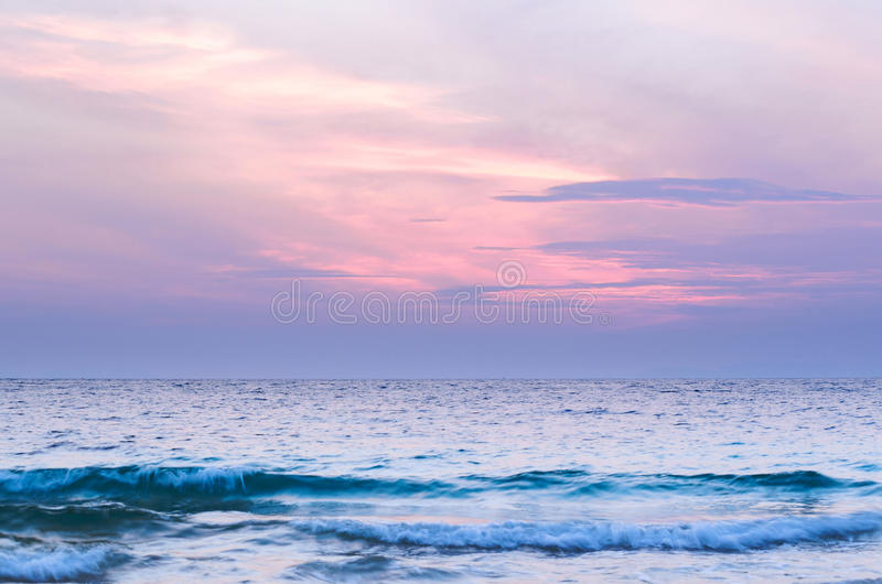 Cloudy seascape royalty free stock image