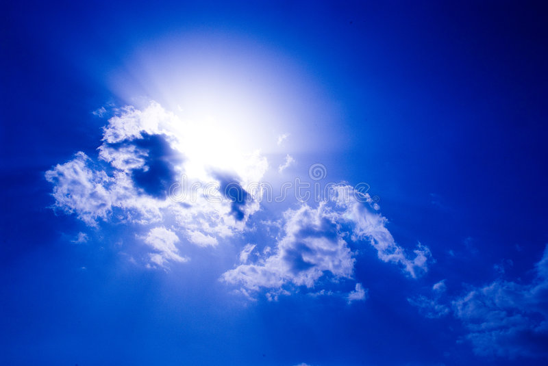 CLOUDY SKIES royalty free stock photo