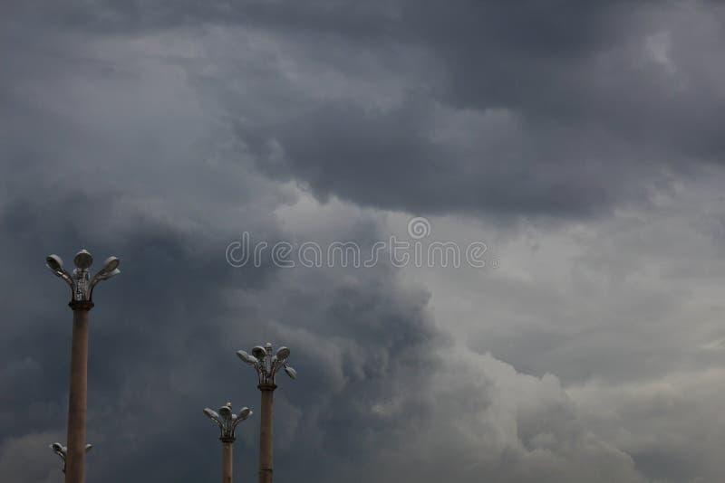 Cloudy skies minimalist. Photo by mohdzaidizk royalty free stock image