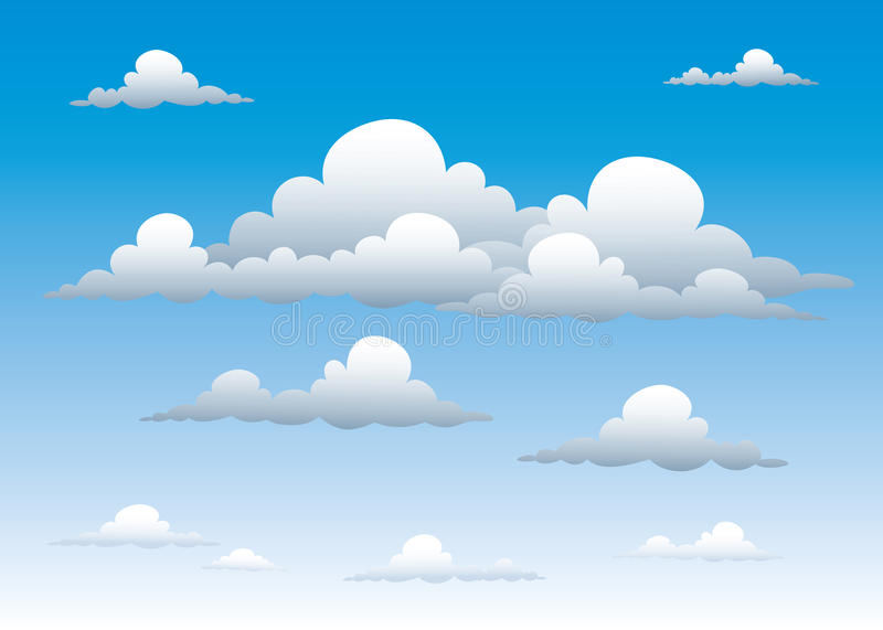 Download Cloudy sky stock vector. Illustration of clouds, cloud - 15406346
