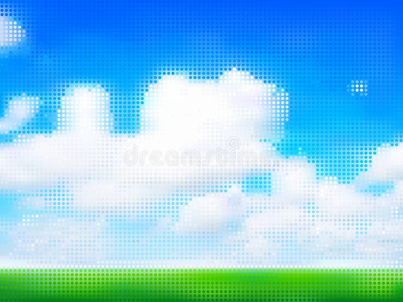 Download Cloudy sky stock illustration. Image of field, abstract - 24684826