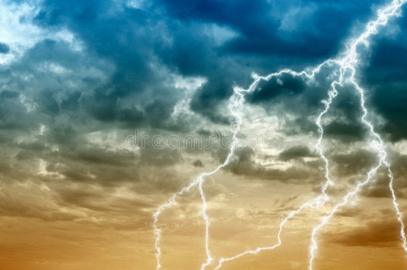 Download Cloudy Sky Abstract Background With Lightning Stock Image - Image: 8263189