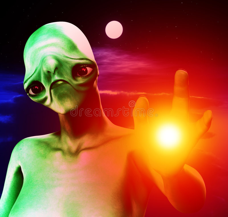 Download Cloudy Sky And Alien 6 stock illustration. Image of moonnight - 6247771