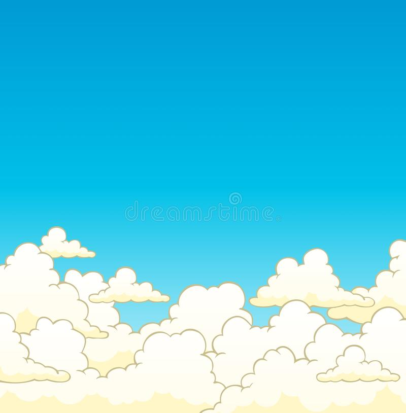 Cloudy sky background 6. Vector illustration royalty free illustration