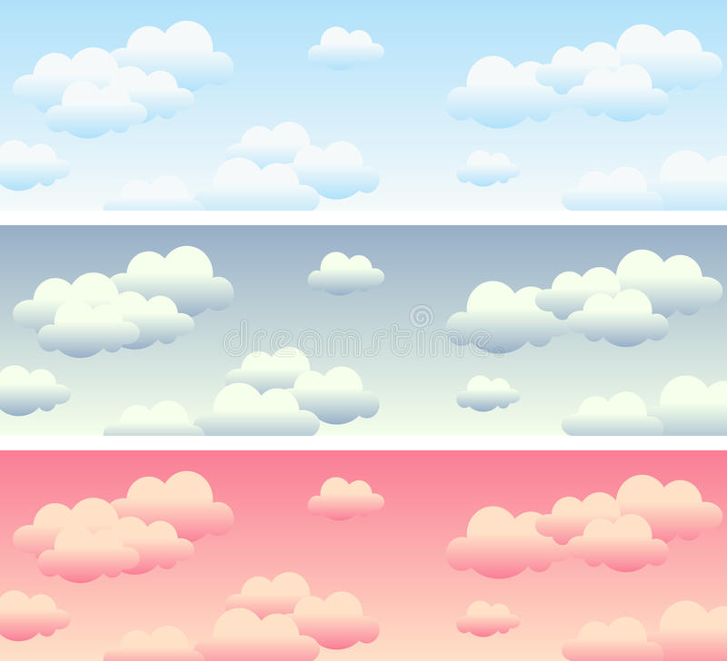 Download Cloudy Sky Banners stock vector. Illustration of blue - 14249116