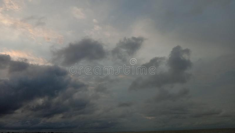 Cloudy sky. That is beautiful stock photography