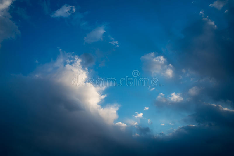 Cloudy sky. Cloud in the blue sky stock images